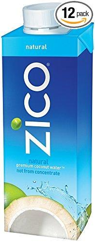 Zico Natural Coconut Water Bottle, 8.45 Fluid Ounce (Pack of 12)