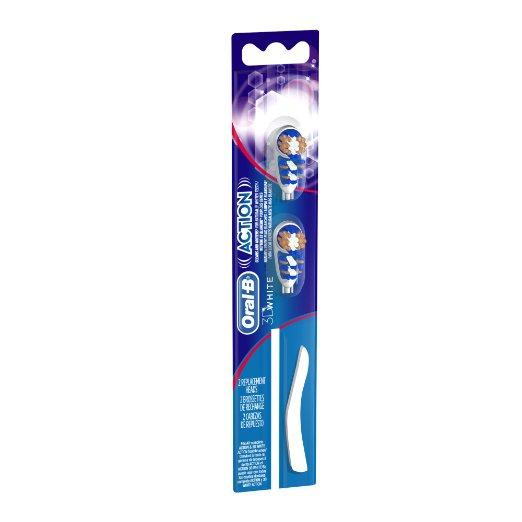 Oral-B 3D White Action Replacement Toothbrush Heads, 2 Count