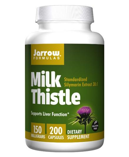 $10.33 Jarrow Formulas Milk Thistle Standardized Silymarin Extract 30:1 Ratio, 150 mg per Capsule, 200 Gelatin Capsules