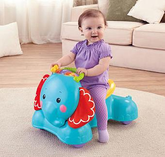 Fisher-Price 3-in-1 Bounce Stride & Ride Elephant