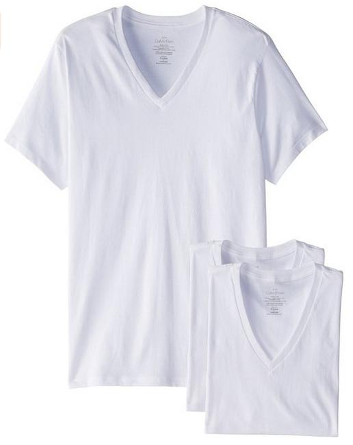 From $23.19 Calvin Klein Men's 3 Pack Cotton Classic Short Sleeve V-Neck T-Shirt