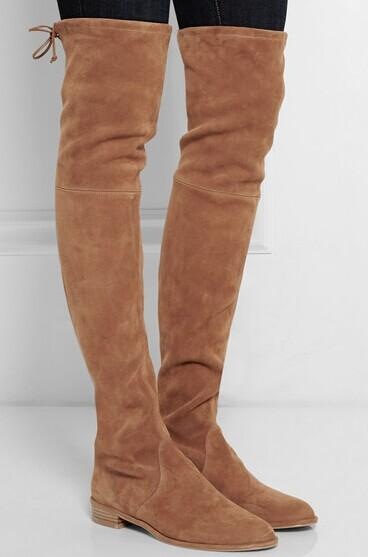 STUART WEITZMAN Lowland stretch-suede over-the-knee boots @ Net-A-Porter