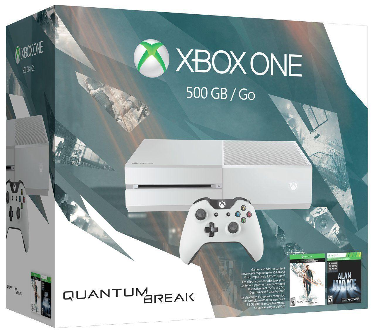 $279 Free Shipping Xbox One 500GB White Console - Special Edition Quantum Break Bundle