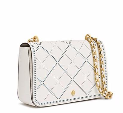 ROBINSON CROSSHATCH ADJUSTABLE SHOULDER BAG @ Tory Burch