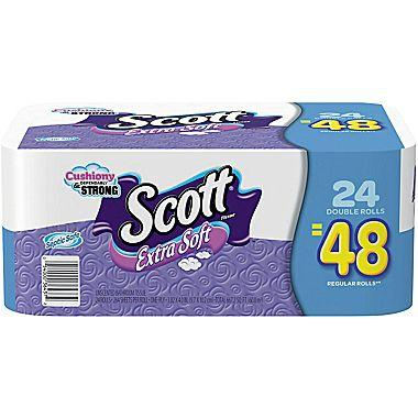 Scott Extra Soft Bath Tissue Rolls, Unscented, 24/Pack