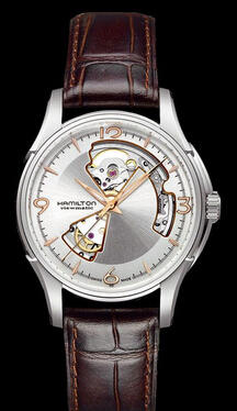 Hamilton Men's Jazzmaster Open Heart Watch H32565555