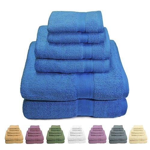 6 Piece Set: Luxurious 100% Cotton Bath Towels