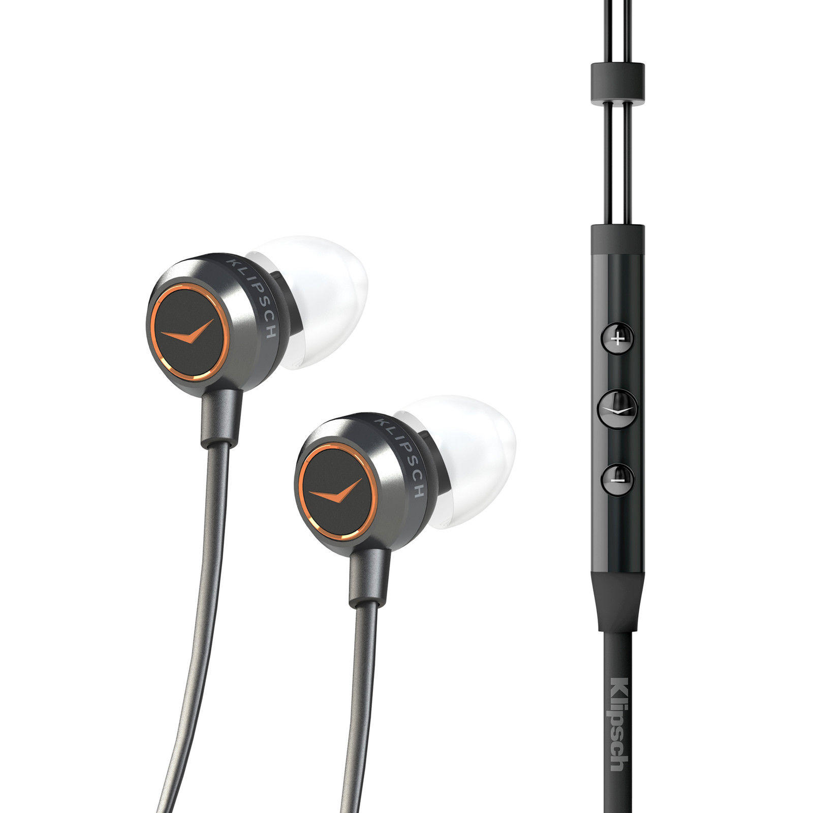 Klipsch X4i In-Ear Headphones with iPod/iPhone Controls Silver/Black
