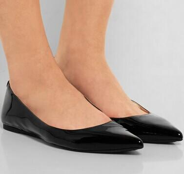 MICHAEL MICHAEL KORS Arianna patent-leather point-toe flats @ Net-A-Porter