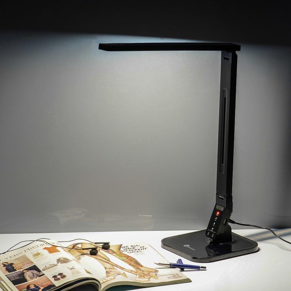 TaoTronics TT-DL01 Dimmable LED Desk Lamp, 4 Lighting Modes 5-Level Dimmer, Touch-Sensitive Control Panel, 1-Hour Auto Time