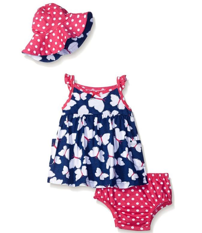 $8.26 Gerber Baby and Little Girls' Sundress and Hat Set
