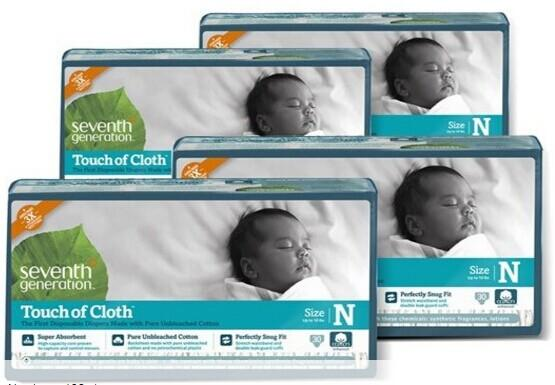 Starting at $12.99 Seventh Generation Touch Of Cloth Diapers (Size Newborn through Size 3)