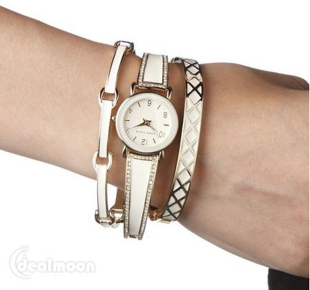 $75.00 Anne Klein Women's Swarovski Crystal Stainless Steel Watch Set