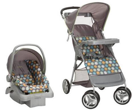 Cosco Flurry Travel System, Ikat Dots