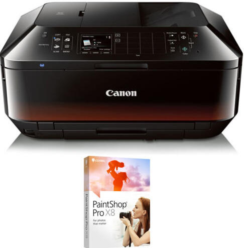 Canon PIXMA MX922 WiFi Inkjet All-In-One Printer + Corel PaintShop Pro X8 Bundle