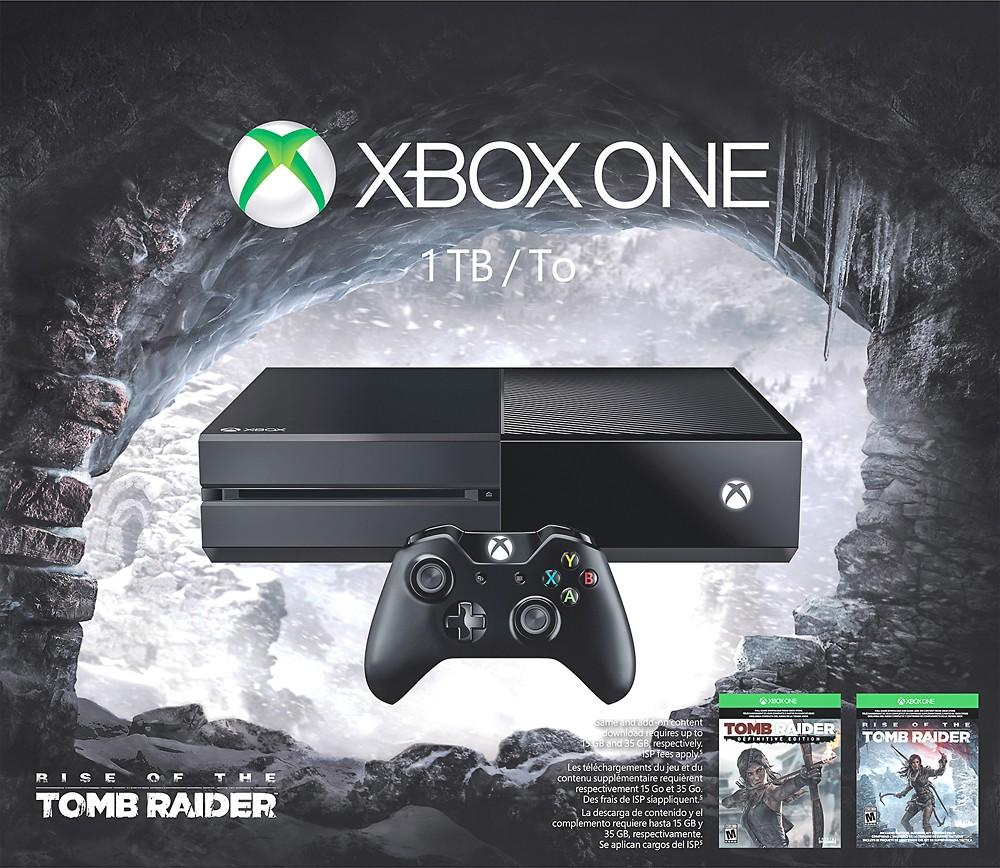 $219.99 xBox One 1TB Rise Tomb Raider Bundle
