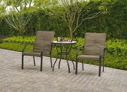 Mainstays Spring Creek 3-Piece Patio Bistro Set, Tan