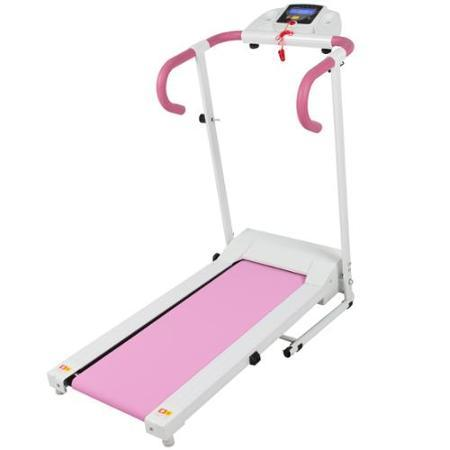 Pink 500W Portable Folding Electric Motorized Treadmill Running Fitness Machine