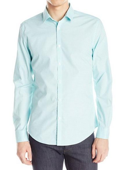 Calvin Klein Men's End On End Shadow Check Button-Front Shirt