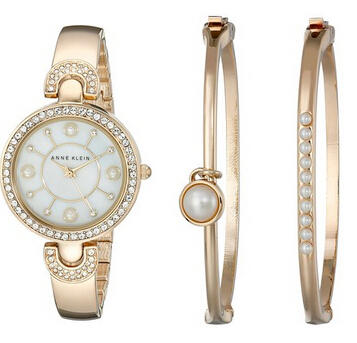 Anne Klein AK/1960GBST Swarovski Crystal-Accented  Watch