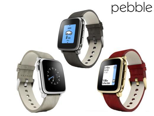 (Certified Refurbished) Pebble Time Smartwatches for Apple/Android Devices