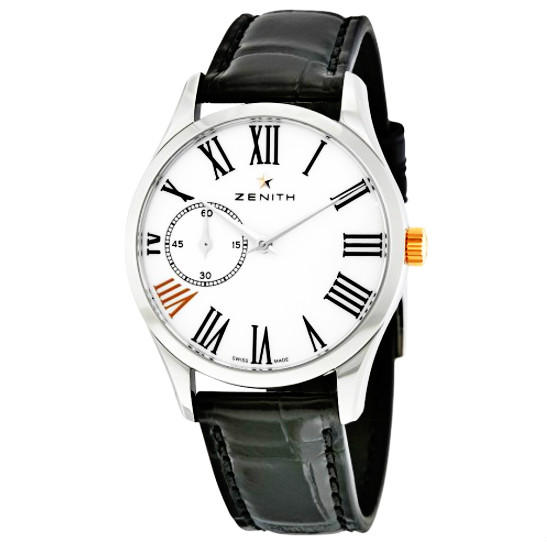 $2495 ZENITH Captain Ultra Thin White Dial Automatic Ladies Watch (Dealmoon Exclusive)