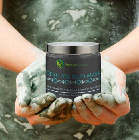 Dead Sea Mud Mask, Melts Cellulite, Treats Acne and Problem Skin, Also Acts as Pore Minimizer and Wrinkle Reducer, By Premium Nature