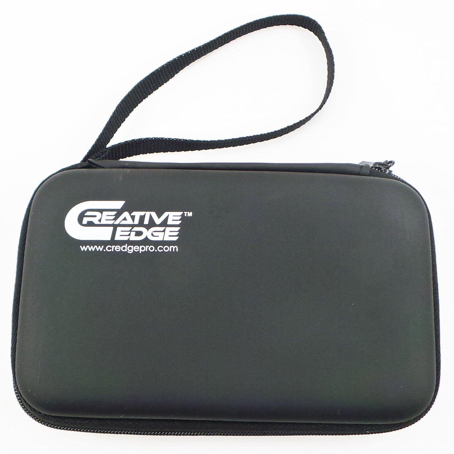 Creative Edge CarryCase,  Zipper and Wrist Strap (Black)