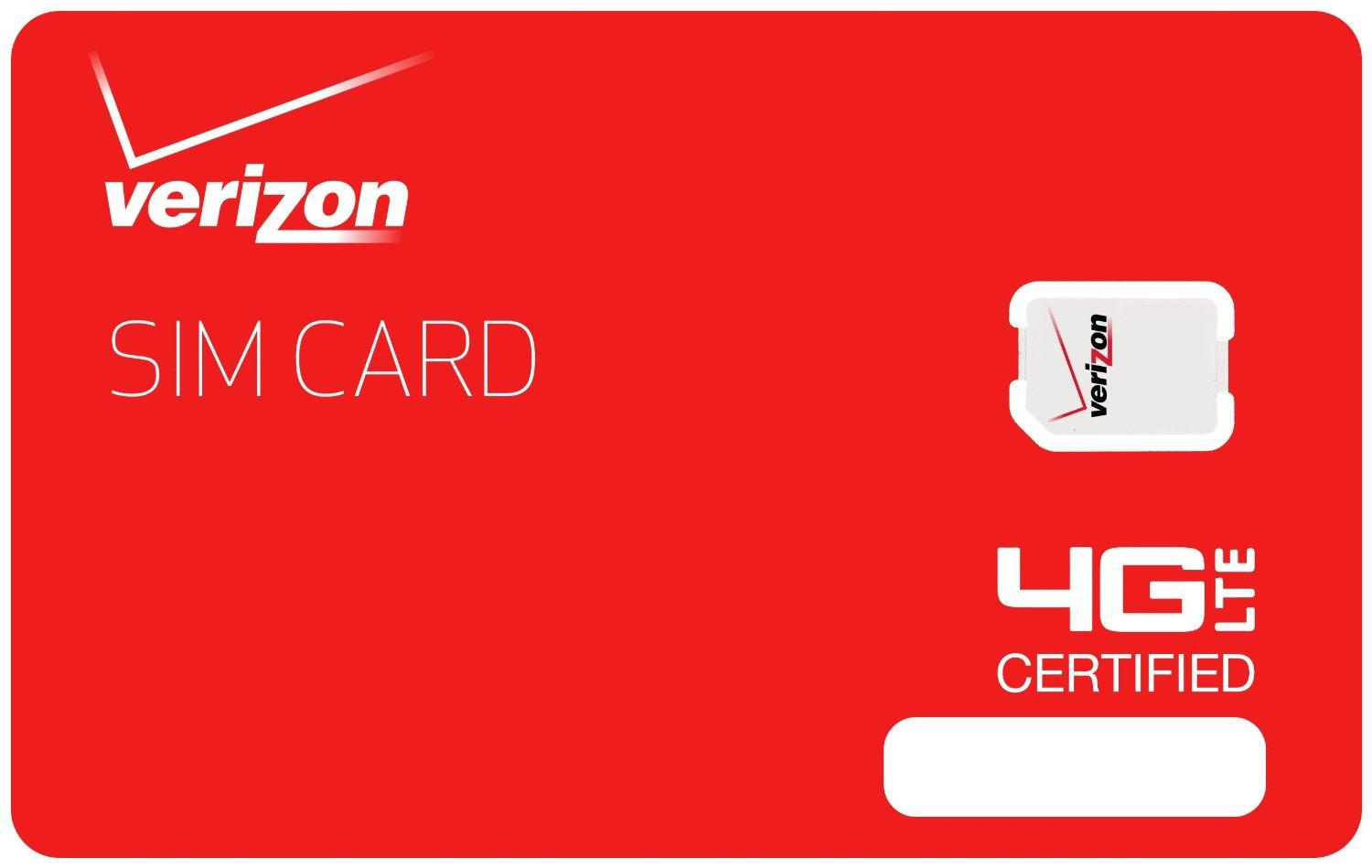 Verizon 4G SIM Activation Kit include the first month service