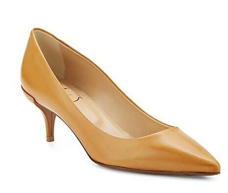 Roger Vivier Leather Point Toe Kitten Heel Pumps @ Saks Off 5th