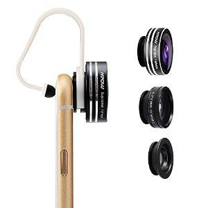 $8.99 Mpow 3 in 1 Clip-On 180 Degree Supreme Fisheye + 0.67X Wide Angle + 10X Macro Lens