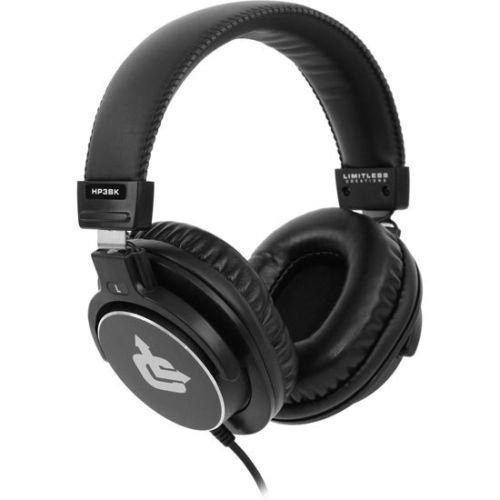 $28.99 Free Shipping Limitless Creations HP3BK Audiophile On-Ear Pro Studio Monitor Headphones
