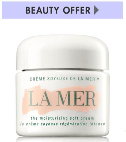 Get Moisturizing Soft Cream Deluxe Sample with any $150 La Mer purchase