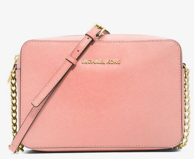 MICHAEL MICHAEL KORS  Jet Set Large Saffiano Leather Crossbody @ Michael Kors