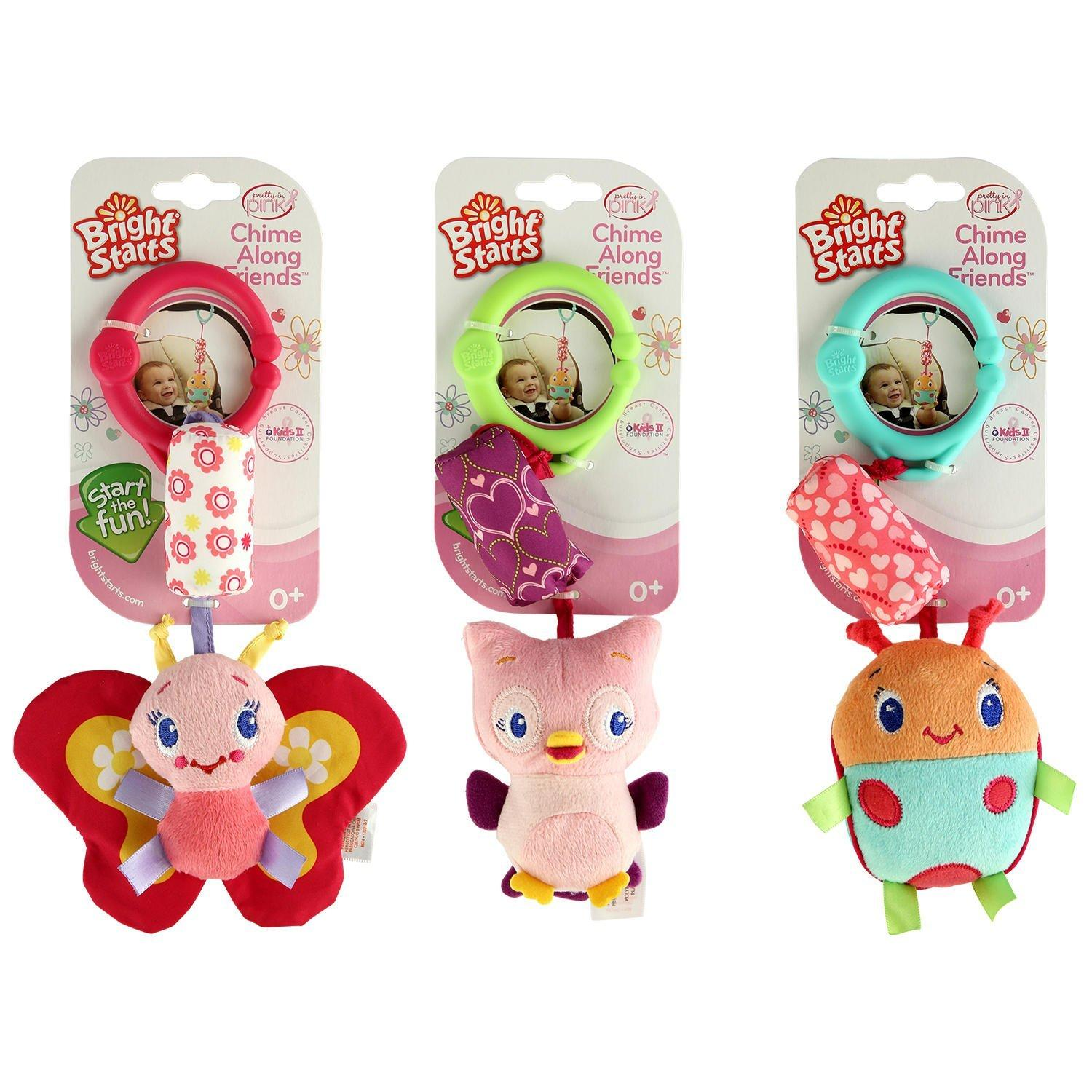 Bright Starts Chime Along Friends Take-Along Toys-Styles Will Vary Assortment of 3