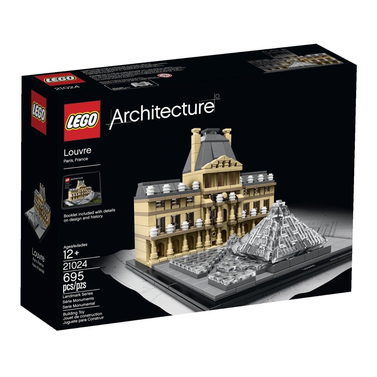 $46.99 LEGO Architecture 21024 Louvre Building Kit