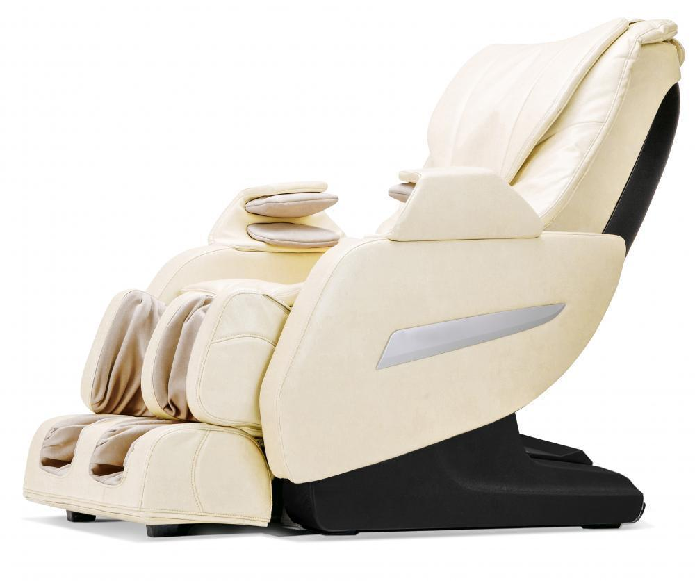 $699.99 + Free Shipping New Cream Full Body Zero Gravity Shiatsu Massage Chair Recliner 3D Massager Heat