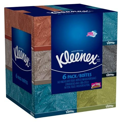 $15.28 Kleenex Everyday Facial Tissues 160 Count,12 Pack+ $5 Target Gift Card