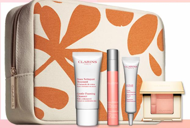 Free 4-Piece Gift Set With Any Orders @ Clarins
