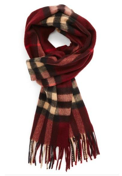 $237.49 Burberry Heritage Check Cashmere Scarf On Sale @ Nordstrom