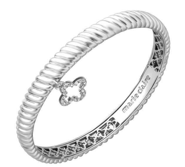 79% Off Marie Claire Petite Clover Pendant with Swarovski Crystals in Sterling Silver @ Jewelry.com