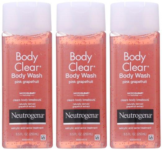 Neutrogena Body Clear Body Wash, Pink Grapefruit, 8.5 Ounce (Pack of 3)