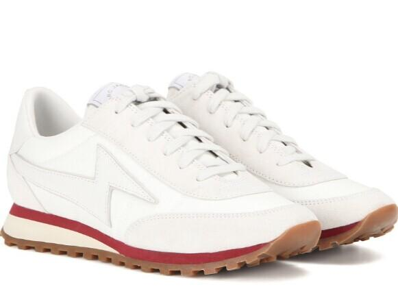 Marc Jacobs  White Astor Lightning Bolt Sneakers  @ SSENSE