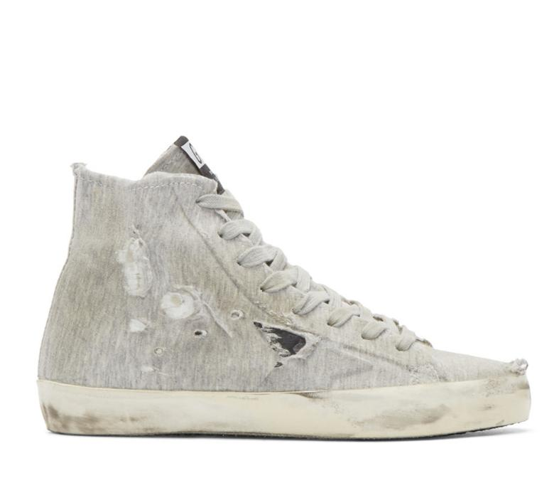 Golden Goose  Grey Francy High-Top Sneakers  @ SSENSE
