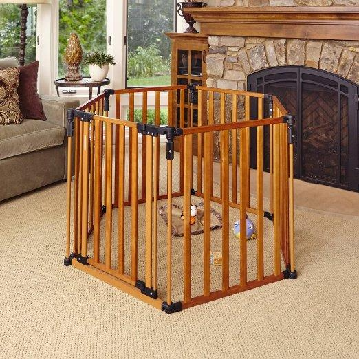 North States Superyard 3 in 1 Wood Gate, Prime members only