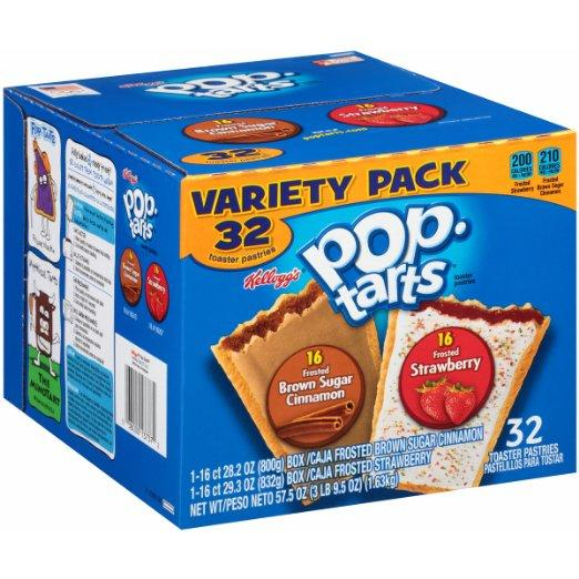 Pop-Tarts, Variety Frosted Strawberry and Frosted Brown Sugar Cinnamon, 32 Count