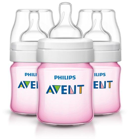 $12.32 Philips AVENT Classic Plus BPA Free Polypropylene Bottles, 4 Ounce (Pack of 3)