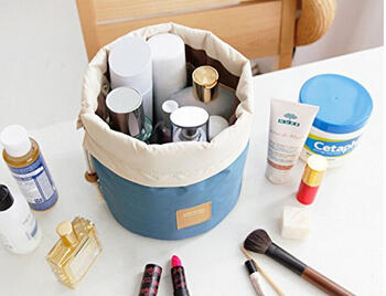 Annie Queen Travel Restroom Barrel Cosmetic Bag multi Makeup Bags