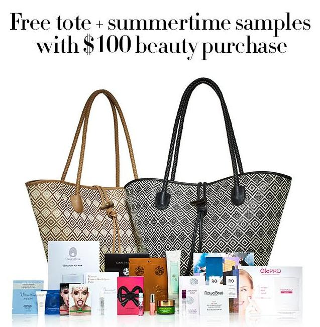 Free Tote with Summertime Samples with Your Beauty Purchase over $100 @ Neiman Marcus