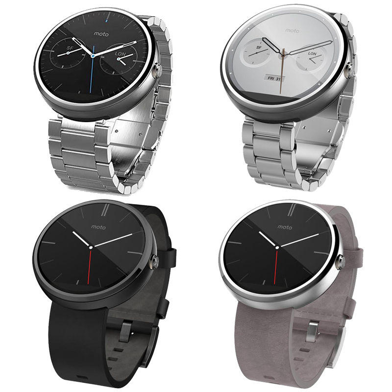 $89.99 Moto 360 46MM Touch Android SmartWatch